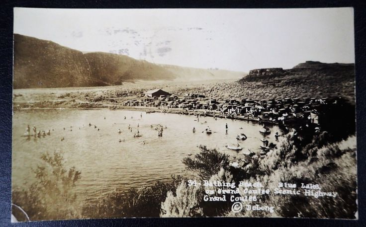 Bathing-Beach-Blue-Lake-Grand-Coulee-Highway-Delong