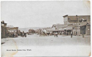 Main-Street-Coulee-City-Washington-C1907-Vintage-Postcard